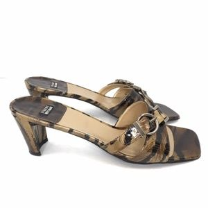 Stuart Weitzman Tortoise Shell Kitten Heels 7.5